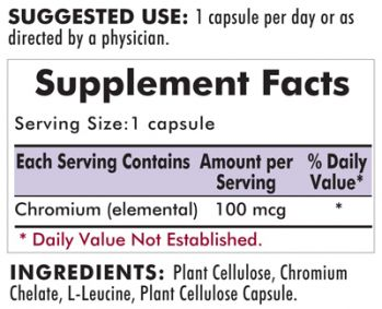 Kirkman`s Chromium 100 mcg. Hypoallergenic Capsules 100 3 box value pack