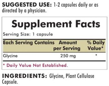 Kirkman`s Glycine Hypoallergenic 250 mg 200 Capsules 3 box value pack