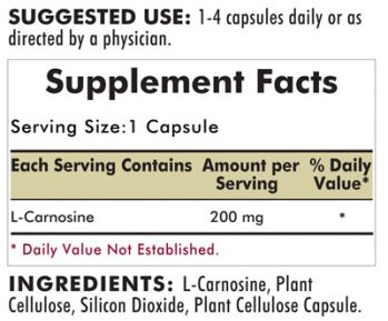 Kirkman`s L-Carnosine Hypoallergenic 200 mg 90 Capsules 3 box value pack