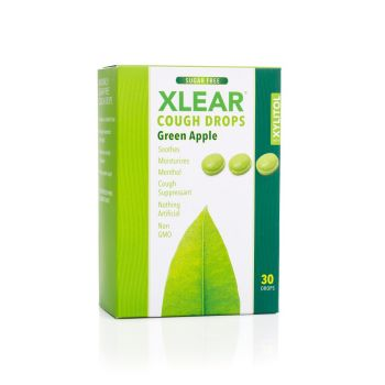 Xlear, Green Apple Sugar Free Cough Drops