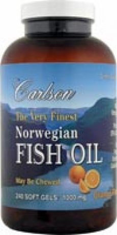 Carlson`s The Very Finest Norwegian Fish Oil Orange 240 softgels
