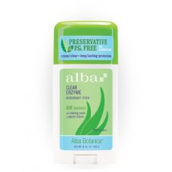 Alba Botanica, Clear Enzyme Deodorant Stick, Aloe Unscented, 2 oz (57 g)
