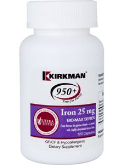 Kirkman 950+ Iron Bio-Max Series 25mg 120 caps