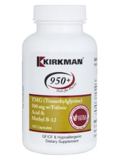 Kirkman 950+ TMG 500mg w/Folinic Acid, B12 120 caps