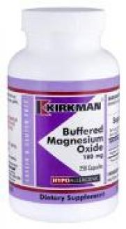 Kirkman`s Buffered Magnesium 180 mg 250 Capsules 3 box value pack