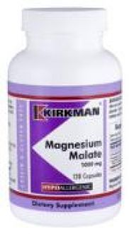 Kirkman`s Magnesium Malate Hypoallergenic 1000 mg 120 Capsules 3 box value pack