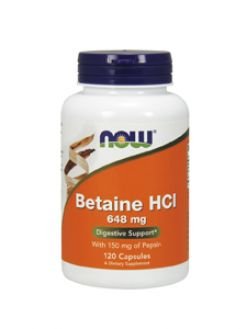 Now Foods, BETAINE HCL 648 MG 120 CAPS