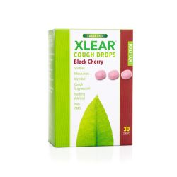 Xlear, Black Cherry Sugar Free Cough Drops
