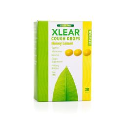 Xlear, Honey Lemon Sugar Free Cough Drops