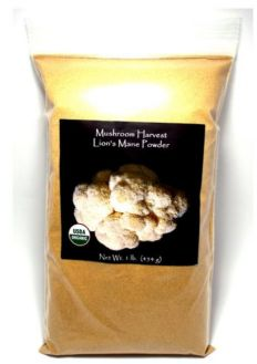 Mushroom Harvest Organic Lion's Mane Full Spectrum, Powder, 1 lb