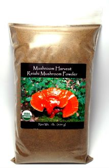 Mushroom Harvest, Reishi Full Spectrum Powder Cert. Organic 1 lb.