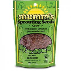 Mumm's Broccoli Certified Organic Sprouting Seeds 100 gr