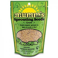 Mumm's Sandwich Booster Certified Organic Sprouting Seeds 125 gr