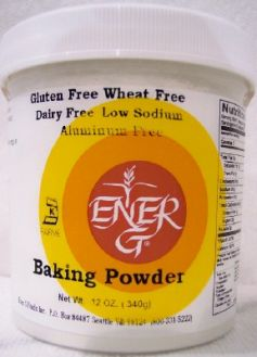 Ener-G Foods Baking Powder-Potato Based, Corn-Free, Aluminum-Free Sodium-Free 12 oz (~360 ml)